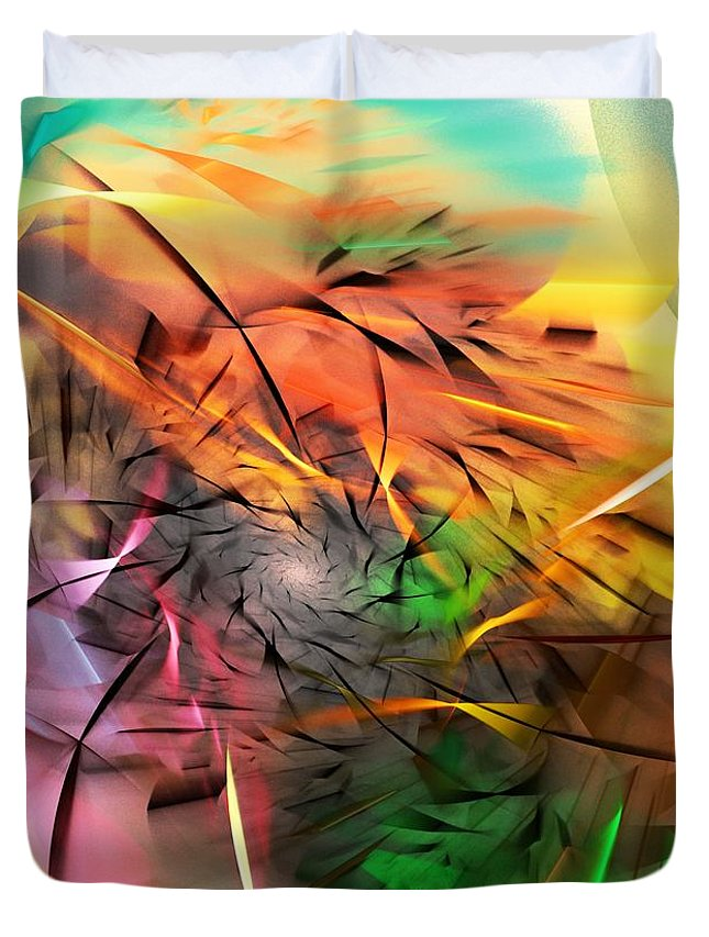 Digital Painting Duvet Cover featuring the digital art From Both Sides Now by David Lane