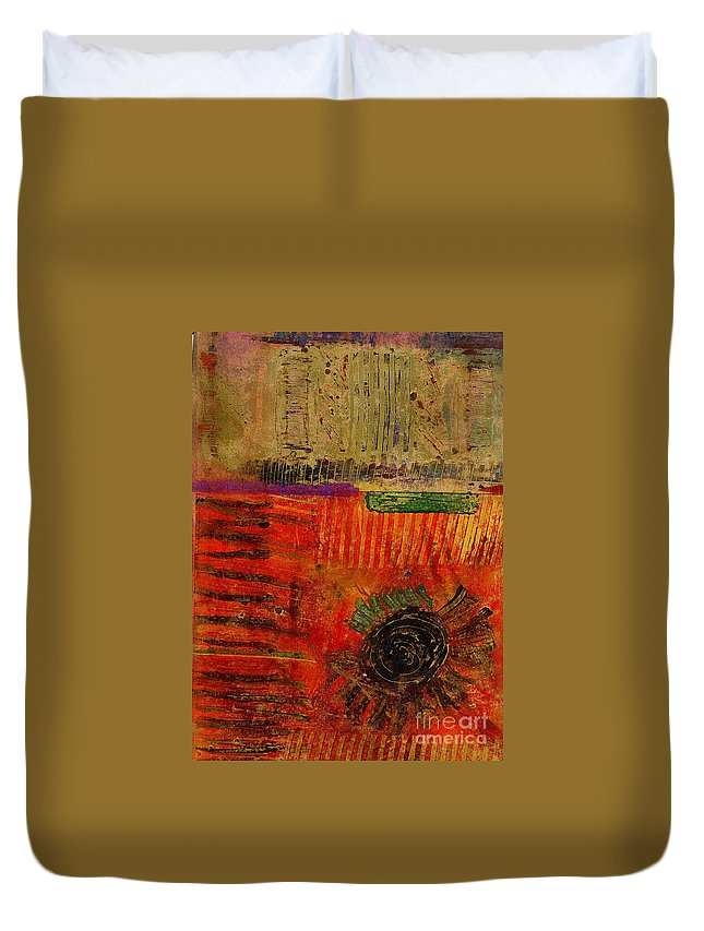 Spiritual Duvet Cover featuring the mixed media From Hot To Cold And Back Again by Angela L Walker