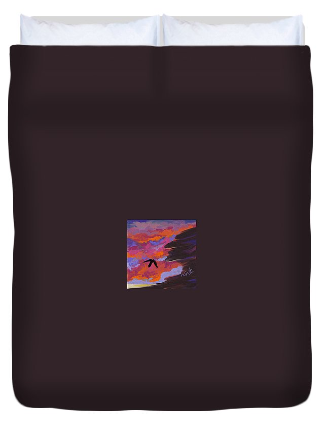 Landscape Duvet Cover featuring the digital art From Shadows by Vivi Sojorhn