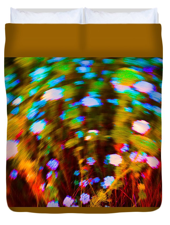 Flowers Duvet Cover featuring the photograph From The Abyss by Josephine Buschman