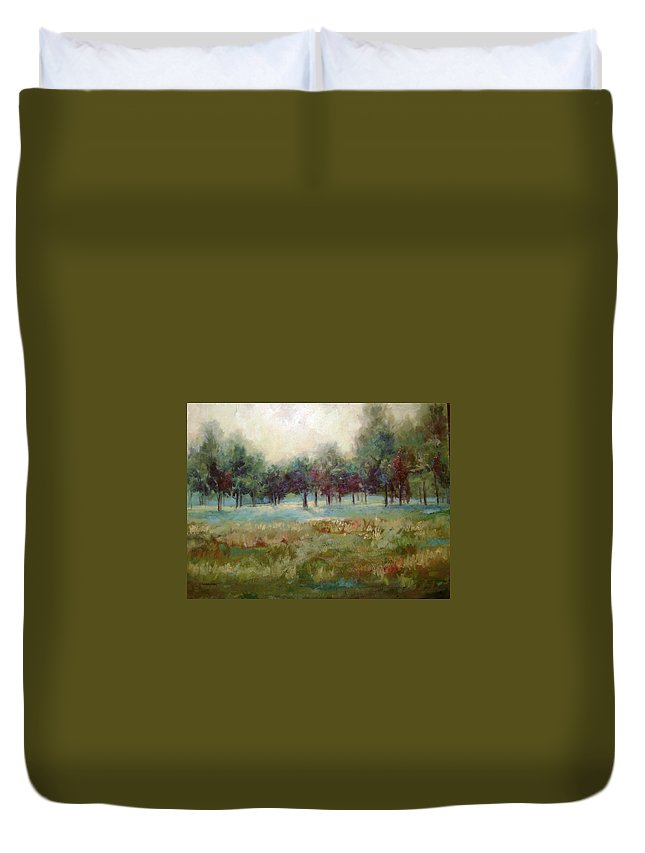 Country Scenes Duvet Cover featuring the painting From The Other Side by Ginger Concepcion
