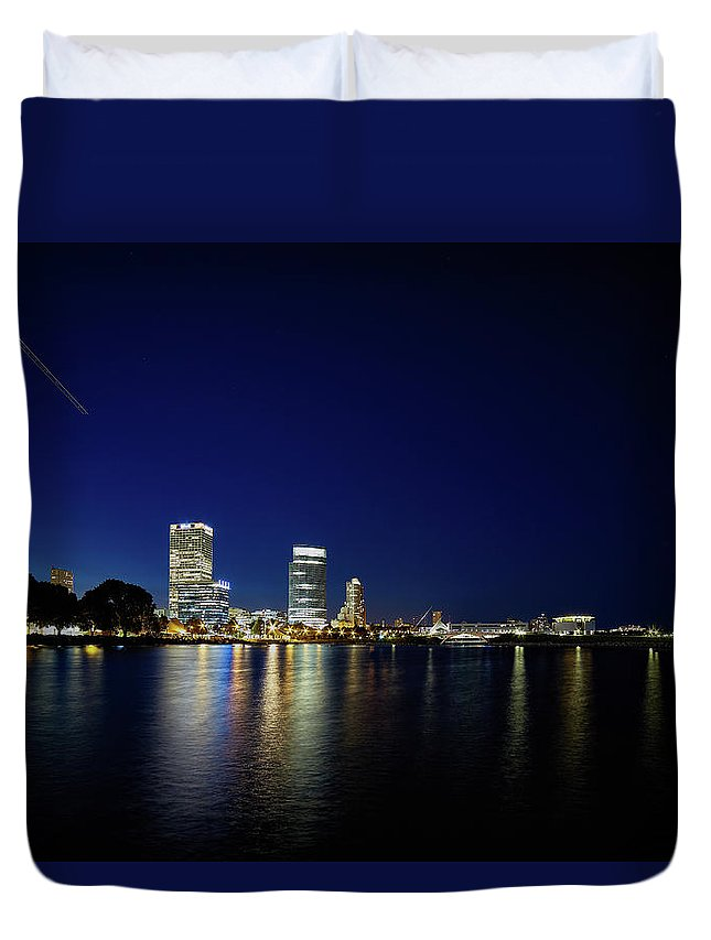 Www.cjschmit.com Duvet Cover featuring the photograph From Where I Stand by CJ Schmit