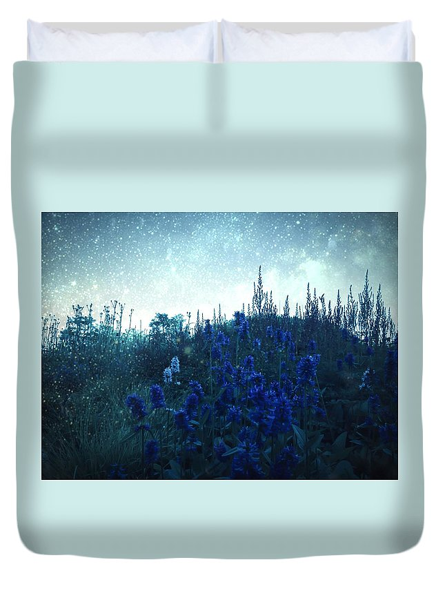 Lilac Duvet Cover featuring the photograph Frost by Madison Adams