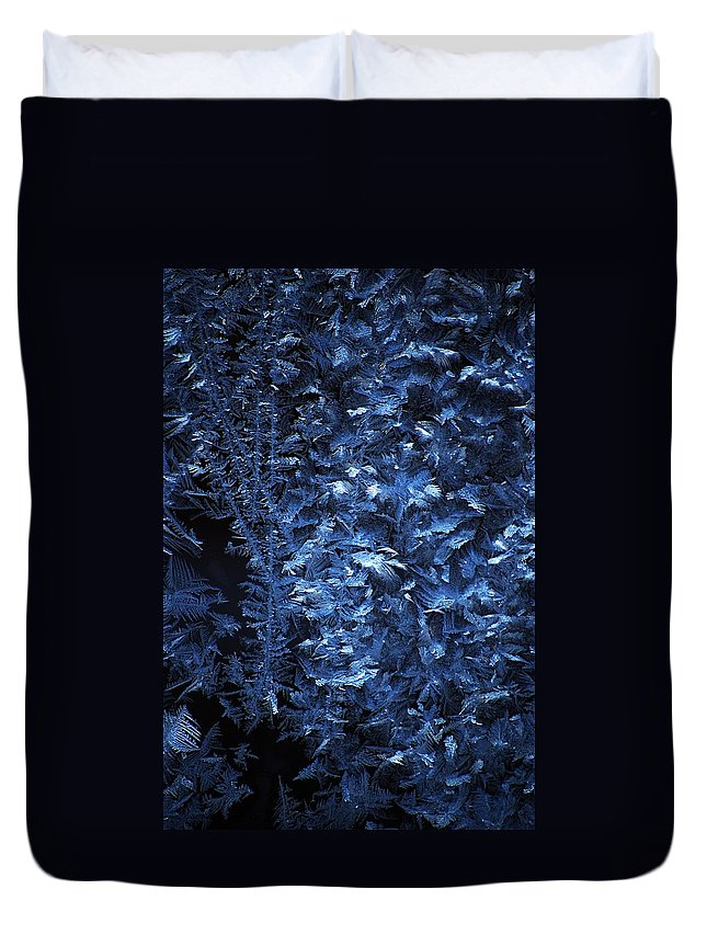 Winter Duvet Cover featuring the digital art Frost On Window by David Lane