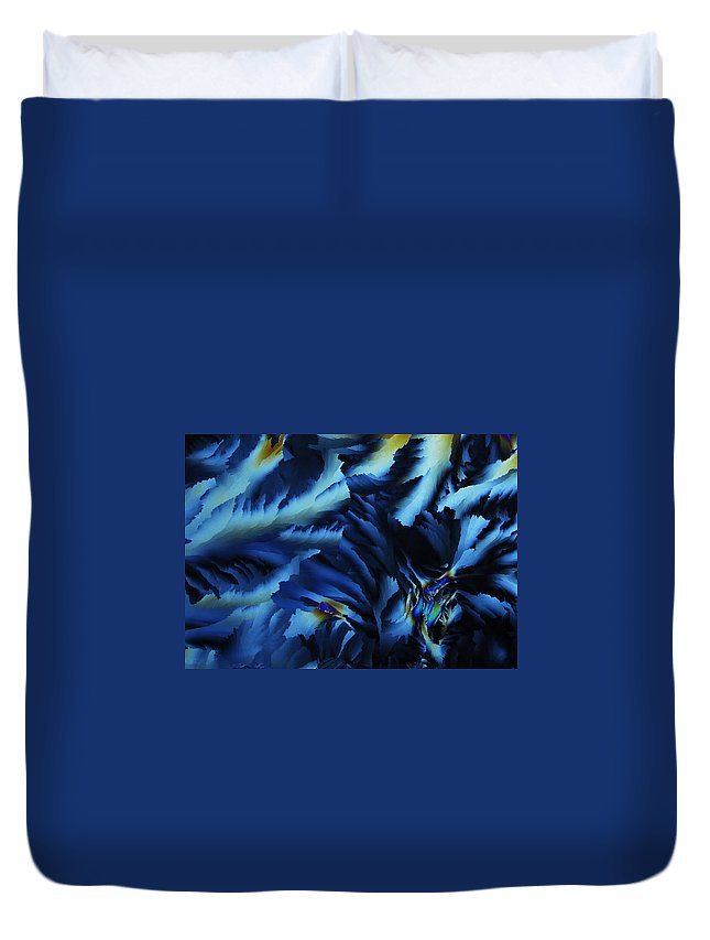 Frost Duvet Cover featuring the photograph Frosty Blues by Carol Berget