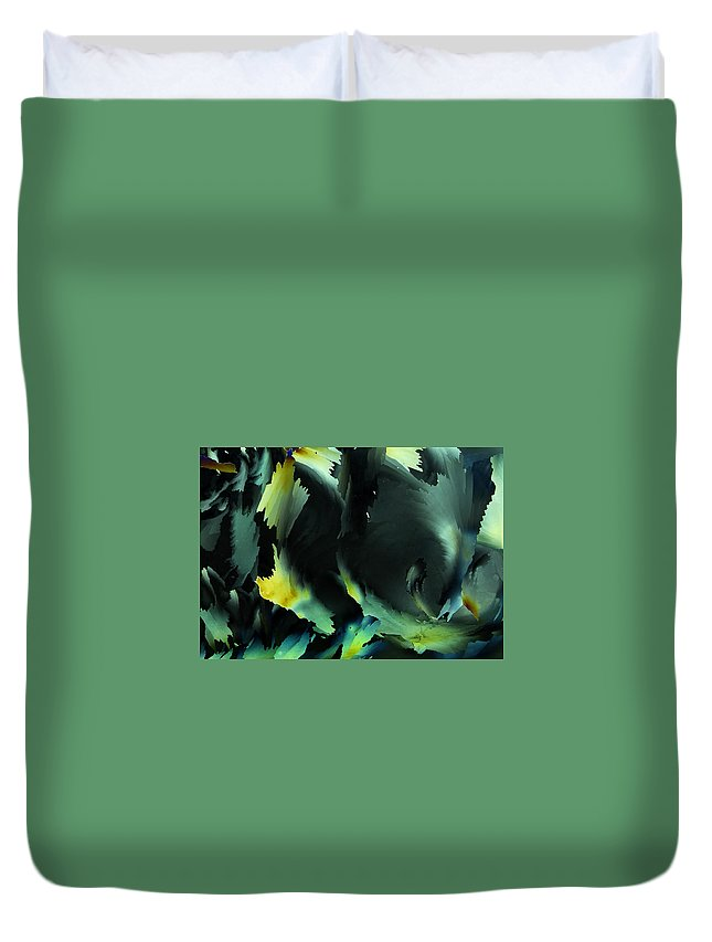 Frost Duvet Cover featuring the photograph Frosty Vortex by Carol Berget