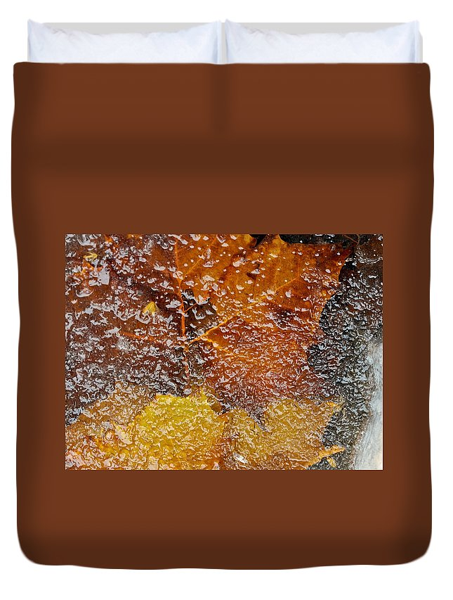 Ice Duvet Cover featuring the photograph Frozen Colors by Stephen Anderson