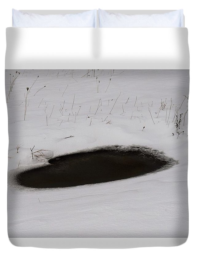Winter Duvet Cover featuring the photograph Frozen Heart by Christina McNee-Geiger