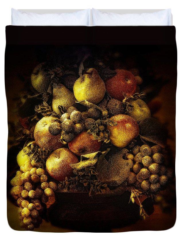 Apple Duvet Cover featuring the photograph Fruit Basket by Bombaert Patrick