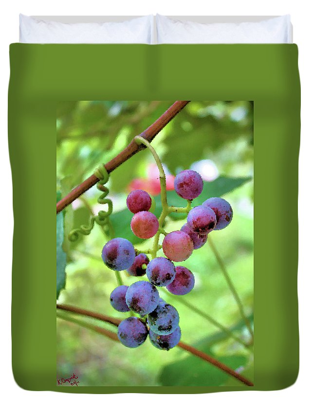 Grapes Duvet Cover featuring the photograph Fruit Of The Vine by Kristin Elmquist