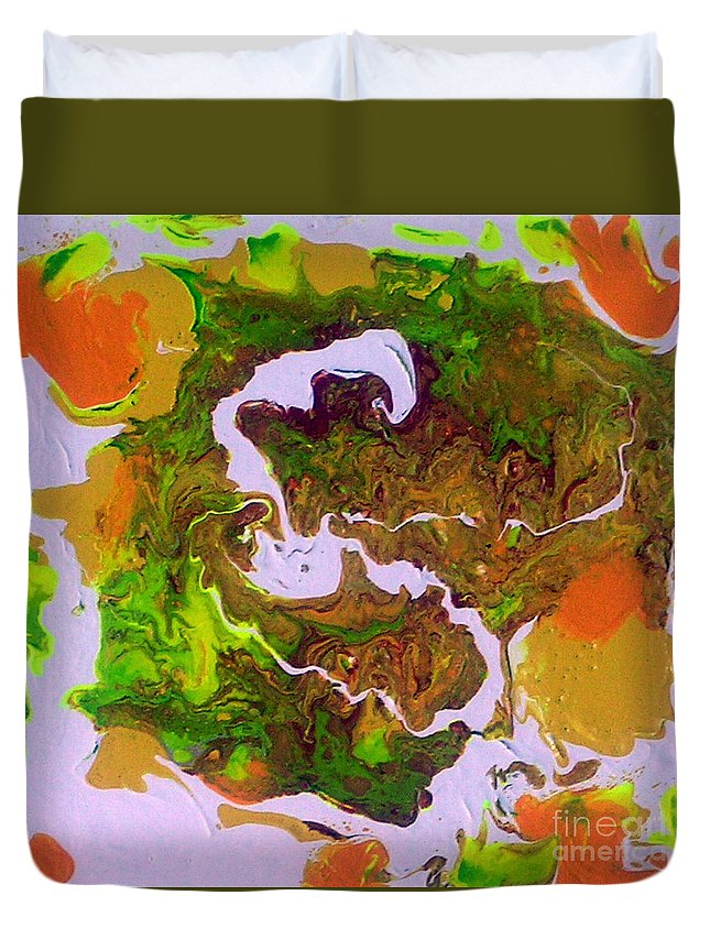 Fruit Salad Duvet Cover featuring the painting Fruit Salad by Dawn Hough Sebaugh