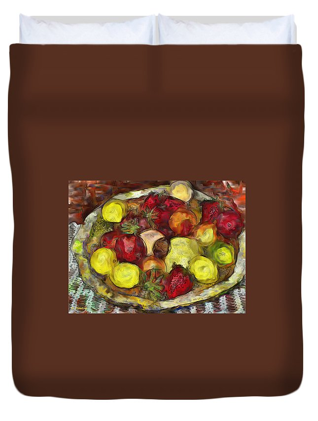 Fruitbowl Duvet Cover featuring the photograph Fruitbowl by Dee Flouton