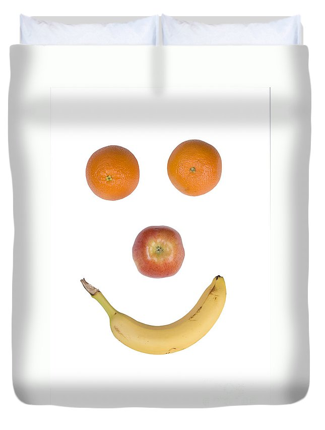Fruit Duvet Cover featuring the photograph Fruity Happy Face by James BO Insogna