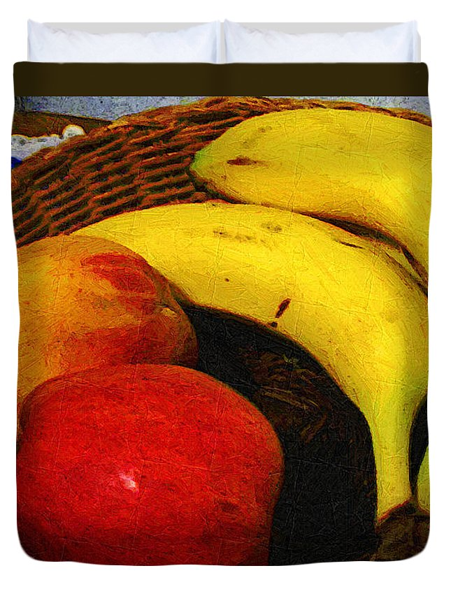 Food Duvet Cover featuring the painting Frutta Rustica by RC DeWinter