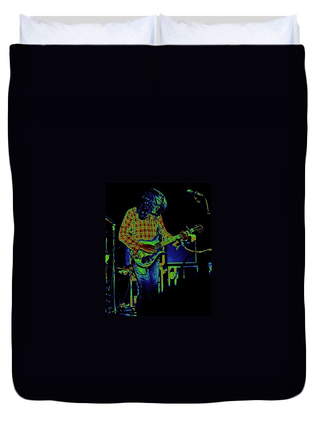 Rory Gallagher Duvet Cover featuring the photograph Fuel To The Cosmic Fire by Ben Upham