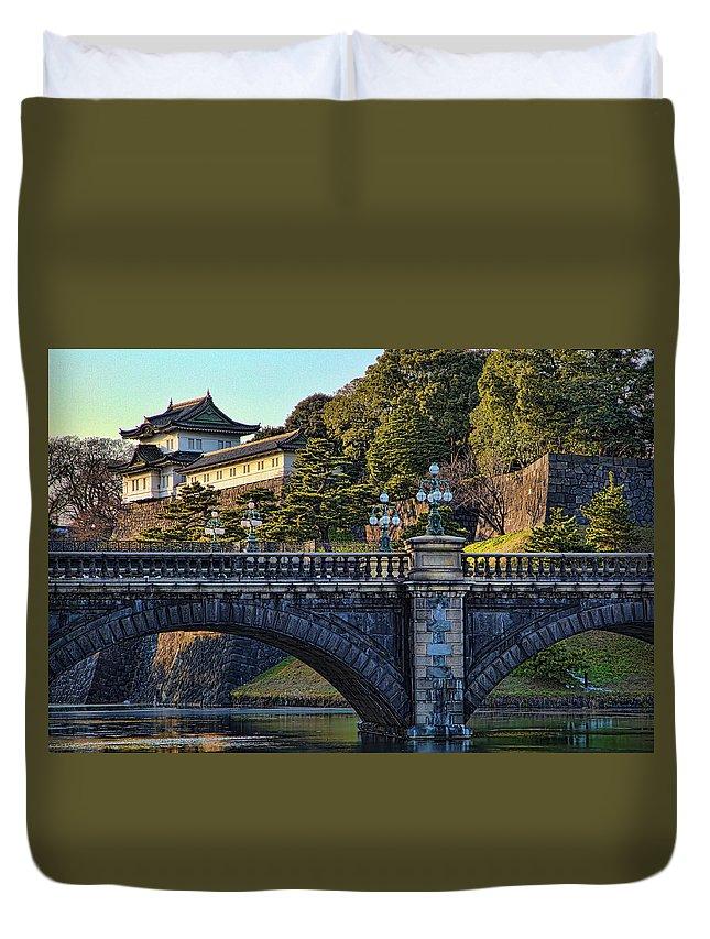 Edo Castle Duvet Cover featuring the photograph Fujimi Yagura Turret by Photopoint Art
