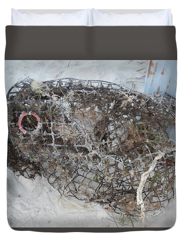 Artistry Duvet Cover featuring the photograph Full Metal Fish by Becky Haines