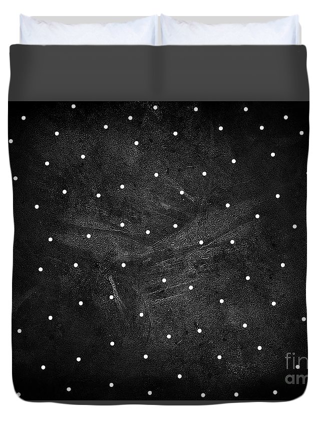 Full Stop Duvet Cover featuring the digital art Full Stop by Prar Kulasekara