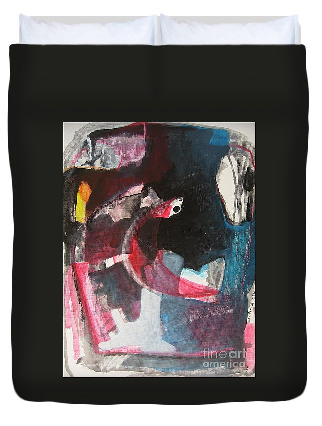 Abstract Paintings Paintings Abstract Art Paintings Duvet Cover featuring the painting Fumbling With Memory by Seon-Jeong Kim