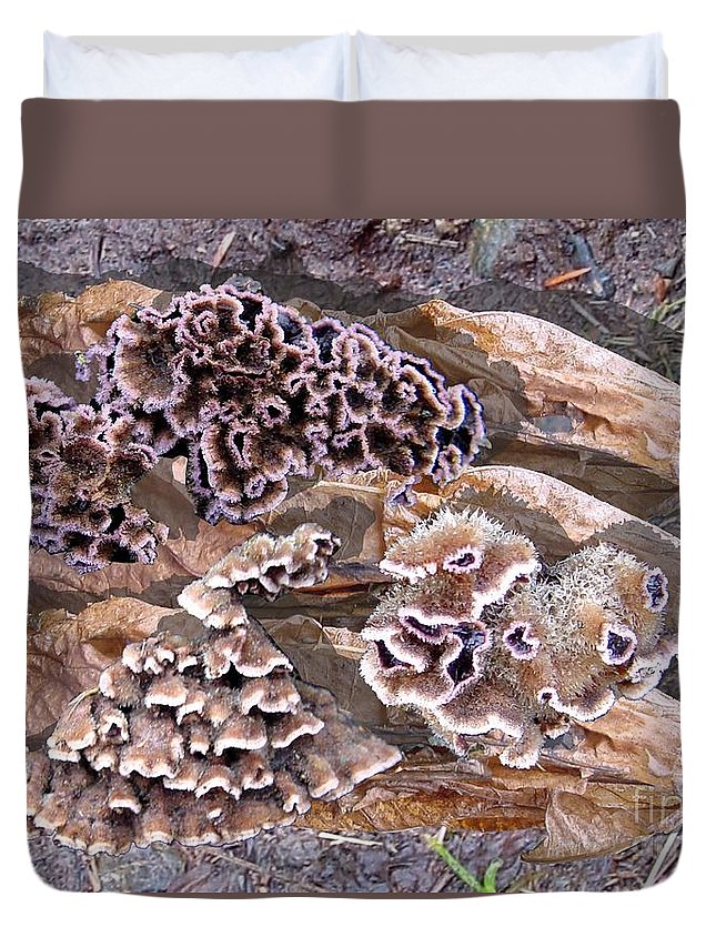 Fungi Art Duvet Cover featuring the digital art Fun Guy by Ron Bissett
