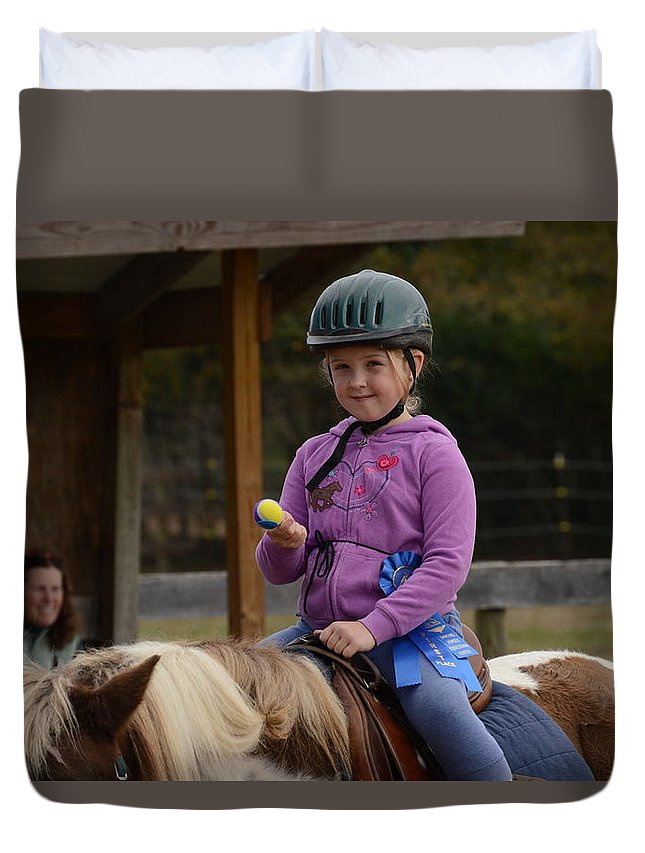 Horse Duvet Cover featuring the photograph Fun On A Pony by Scott Robertson