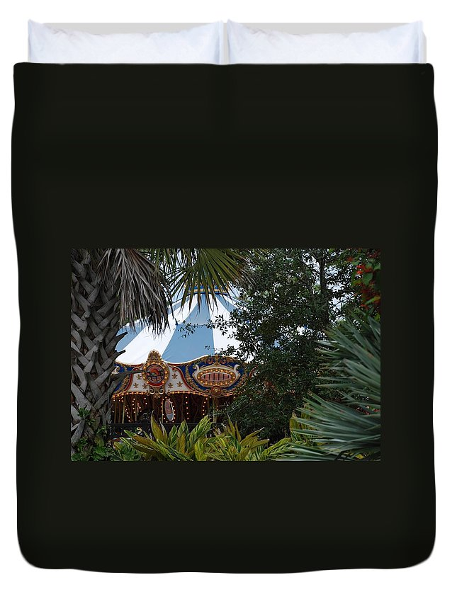 Architecture Duvet Cover featuring the photograph Fun Thru The Trees by Rob Hans