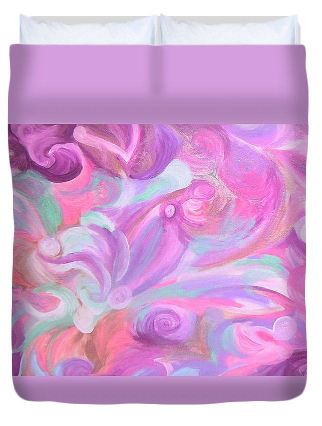Duvet Cover featuring the painting Fun Venture by Subbora Jackson