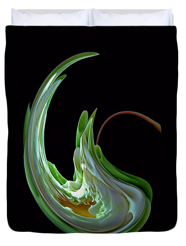 Bradley Duvet Cover featuring the photograph Funky Flower by Rich Despins