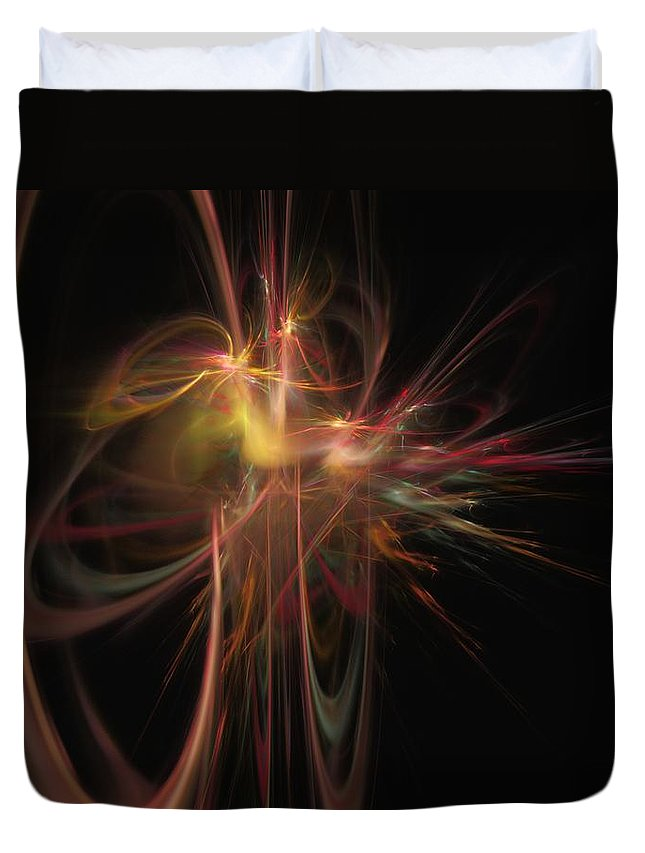 Abstract Digital Painting Duvet Cover featuring the digital art Fusion by David Lane