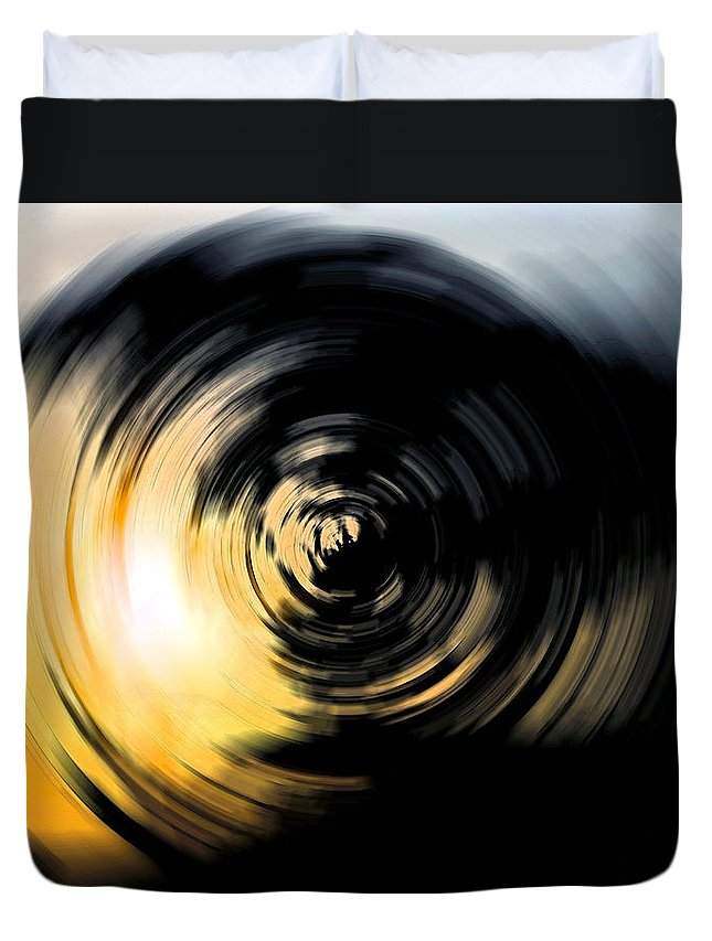 Abstract Duvet Cover featuring the digital art Futility II by Stacey May