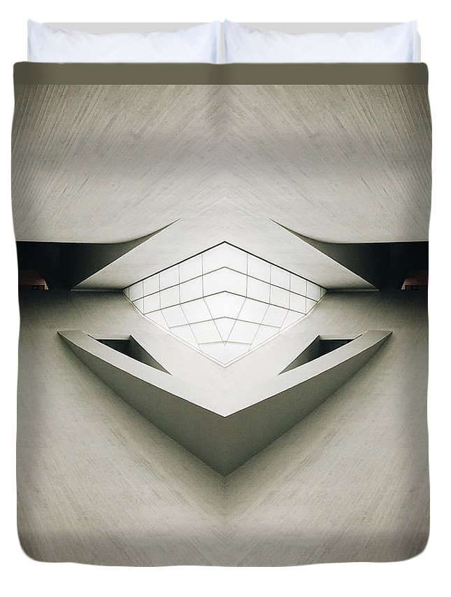 Modern Duvet Cover featuring the photograph Futuristic Architecture One by Phil Perkins