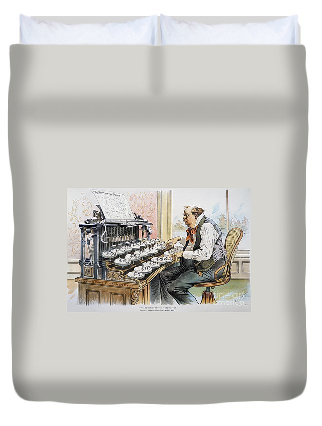 1893 Duvet Cover featuring the photograph G. Cleveland Cartoon, 1893 by Granger