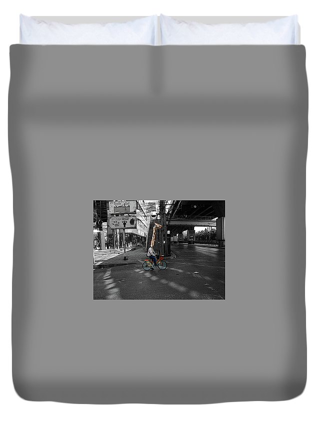 Art Duvet Cover featuring the digital art G-raff by MIke Millar