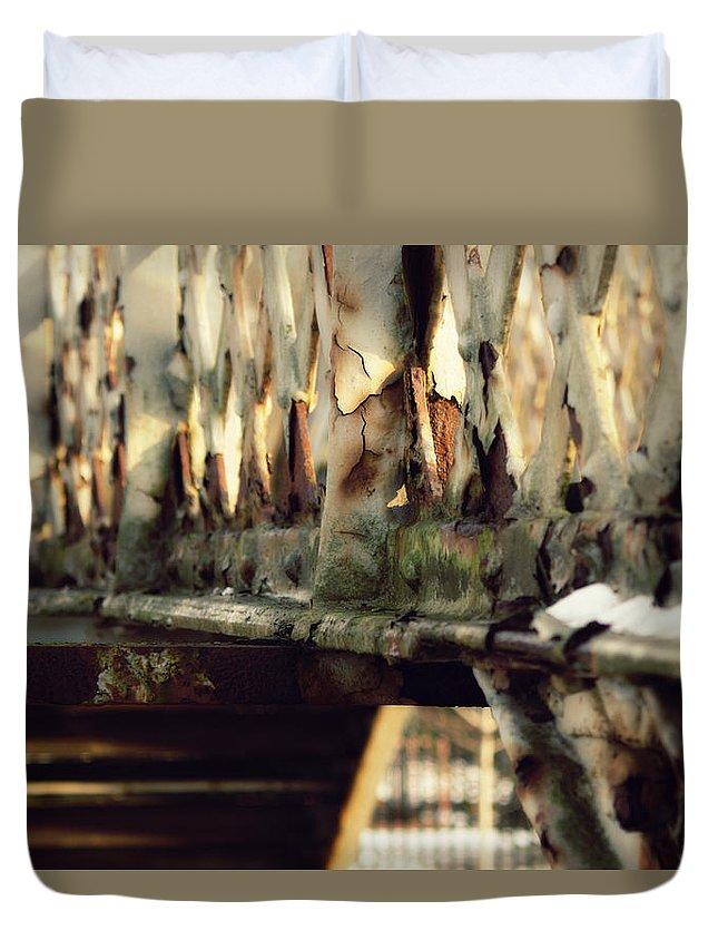 Gainsborough Duvet Cover featuring the photograph Gainsborough Central Train Station by Jason M Rogers