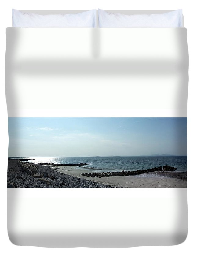 Irish Duvet Cover featuring the photograph Galway Bay At Salt Hill Park Galway Ireland by Teresa Mucha