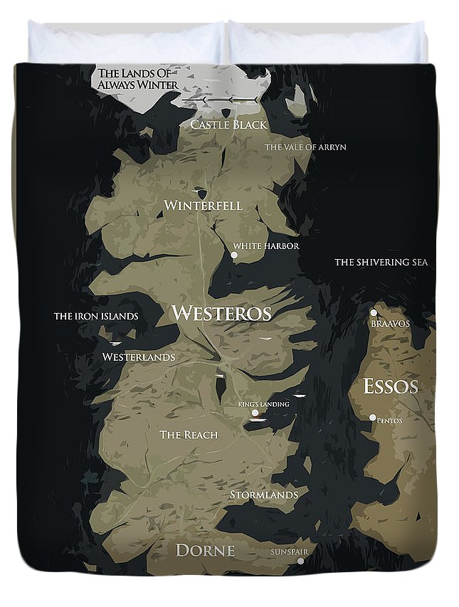 Game Of Thrones Map Duvet Cover for Sale by Semih Yurdabak