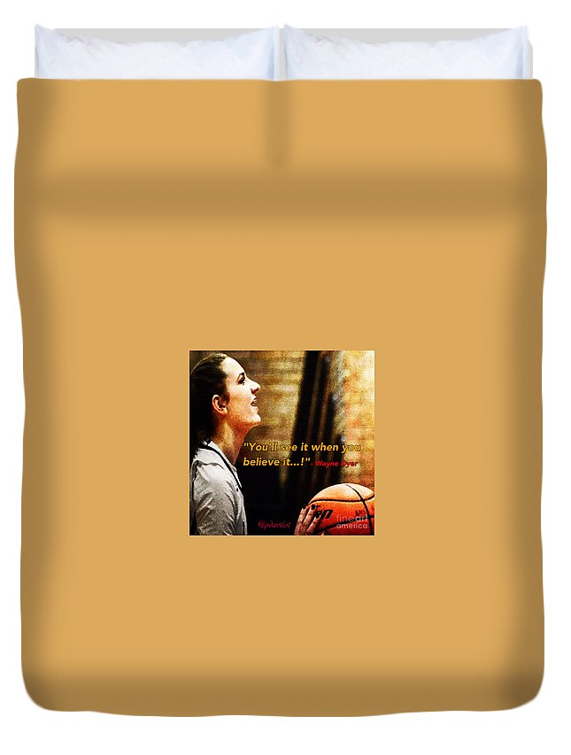 Basketball Duvet Cover featuring the photograph Game Over by Phillip Allen
