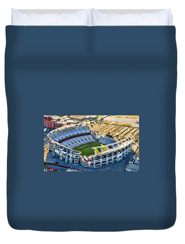 William Brice Stadium Duvet Cover featuring the photograph Gamecock Corral by Steven Richardson