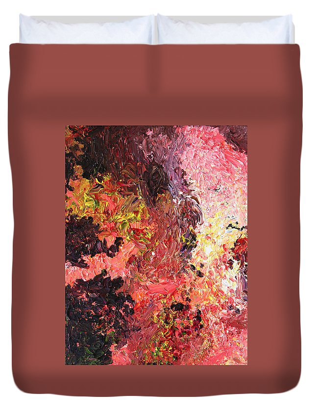 Fusionart Duvet Cover featuring the painting Ganesh In The Garden by Ralph White