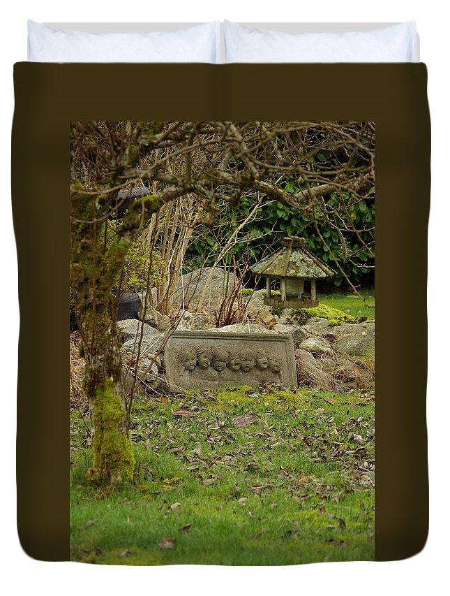 Garden Duvet Cover featuring the photograph Garden Babies by Cindy Johnston