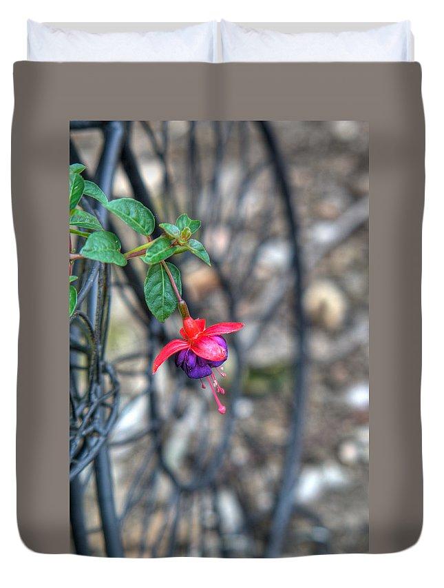 Fuchia Duvet Cover featuring the photograph Garden Delight by Douglas Barnett