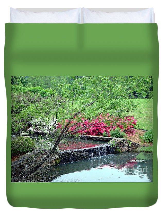 Spring Duvet Cover featuring the photograph Garden Delight by Kathy Bucari