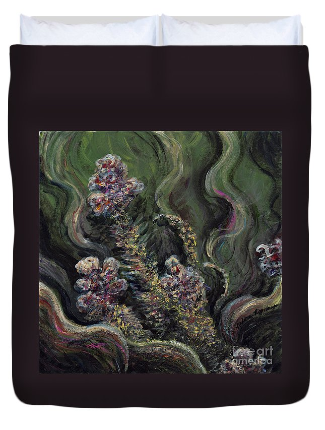 Flowers Duvet Cover featuring the painting Garden Delights by Nadine Rippelmeyer