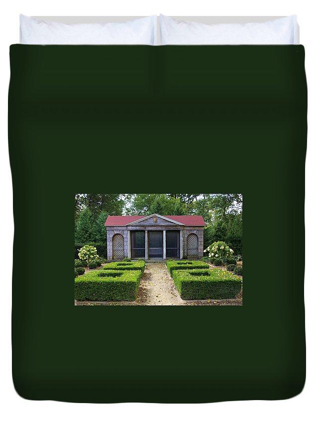 Garden House Duvet Cover featuring the photograph Garden House by Tom Reynen