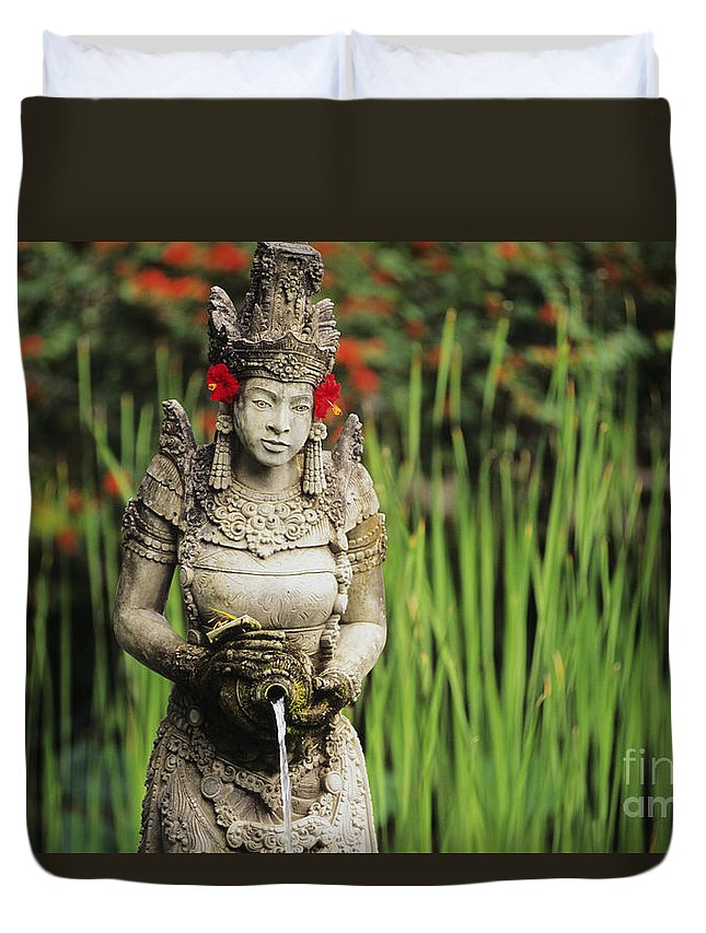 Afternoon Duvet Cover featuring the photograph Garden In Bali by Dana Edmunds - Printscapes