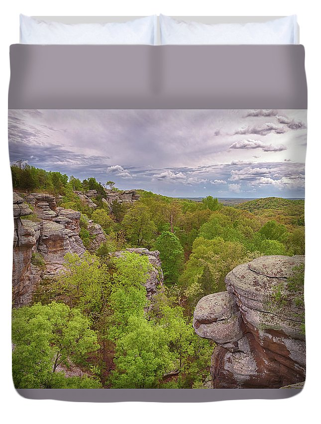 Garden Of The Gods Duvet Cover featuring the photograph Garden Of The Gods by Susan Rissi Tregoning