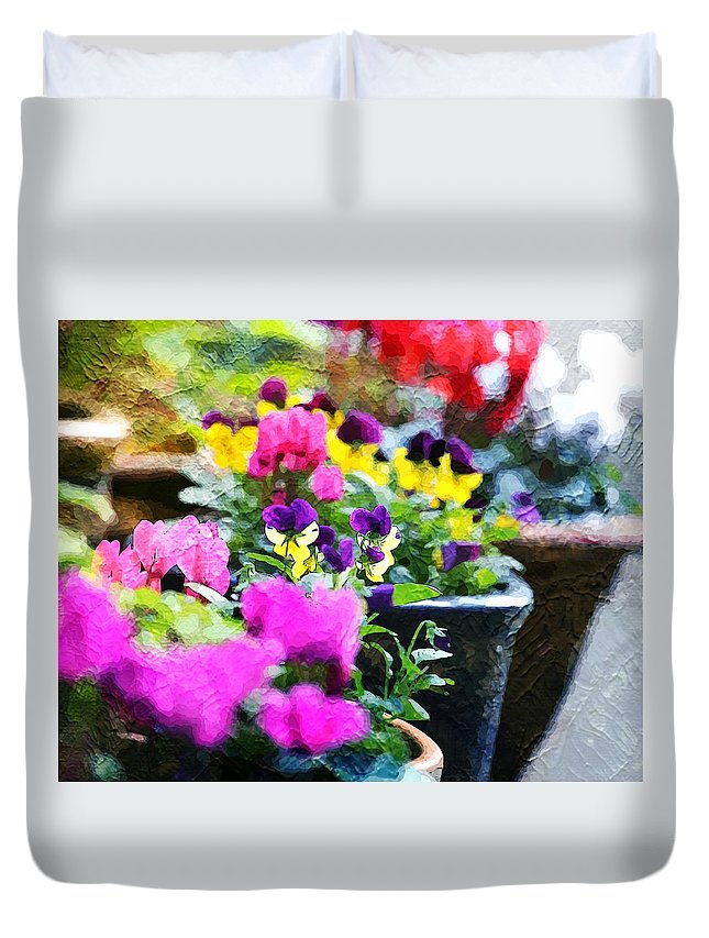 Garden Plants Duvet Cover featuring the photograph Garden Plants by Zahra Majid