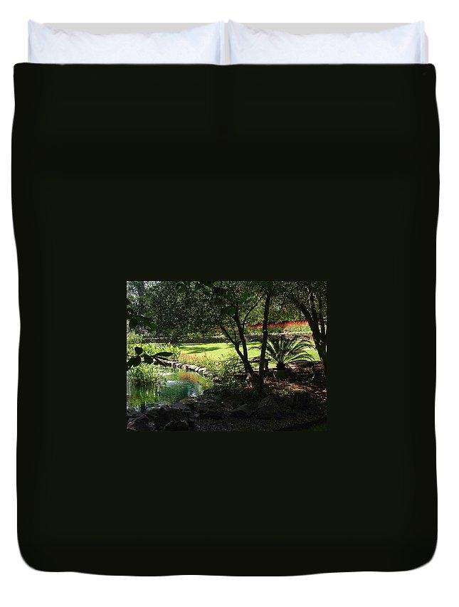 Garden Duvet Cover featuring the photograph Garden Silouhette by Anne Cameron Cutri