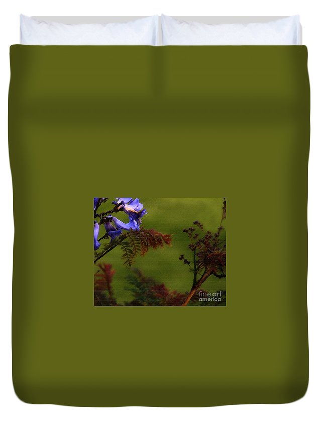 Flowers Duvet Cover featuring the photograph Garden View by Linda Shafer
