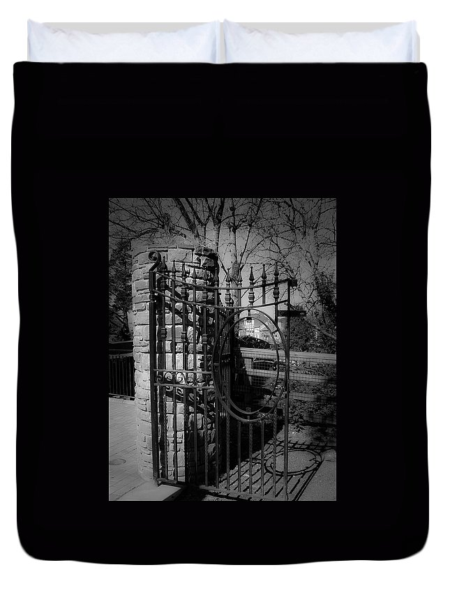 Irish Duvet Cover featuring the photograph Gate In Macroom Ireland by Teresa Mucha